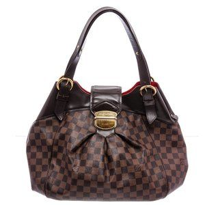 Louis Vuitton Damier Canvas Leather Sistina GM Bag